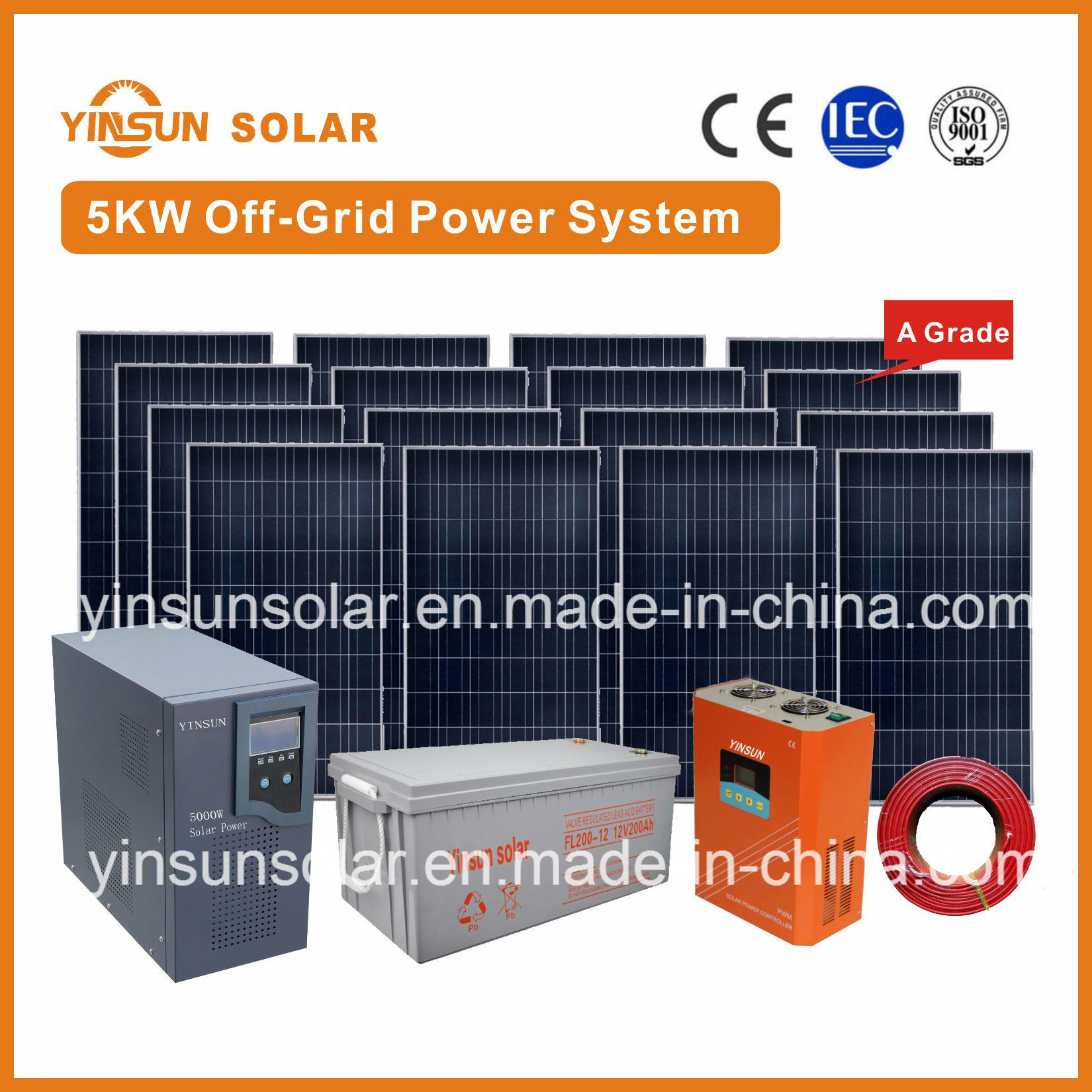 5000W off-Grid Solar Power System for Home Solar Energy PV System pictures & photos