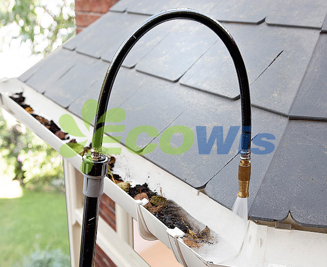 Gutter Cleaning Attachment For Garden Hose