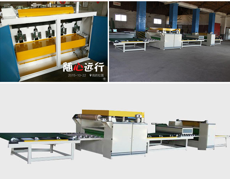 Woodworking Automatic Paper Sticking Line pictures & photos