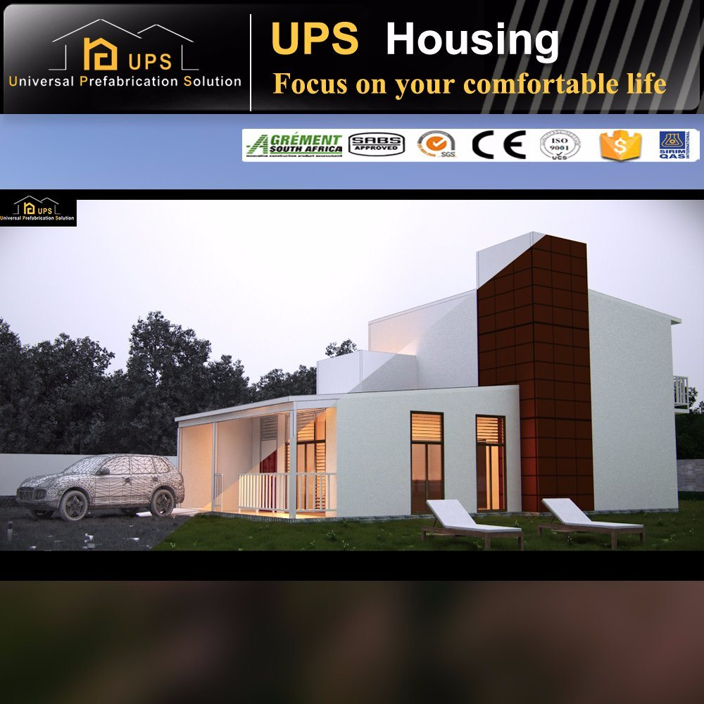 Fast Assembled Prefab House Foam Cement House Sandwich Panel Villa