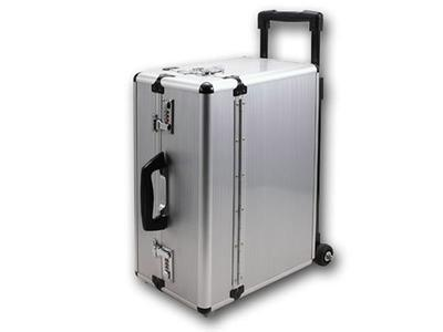 Silver Travel Aluminum Case With Wheels