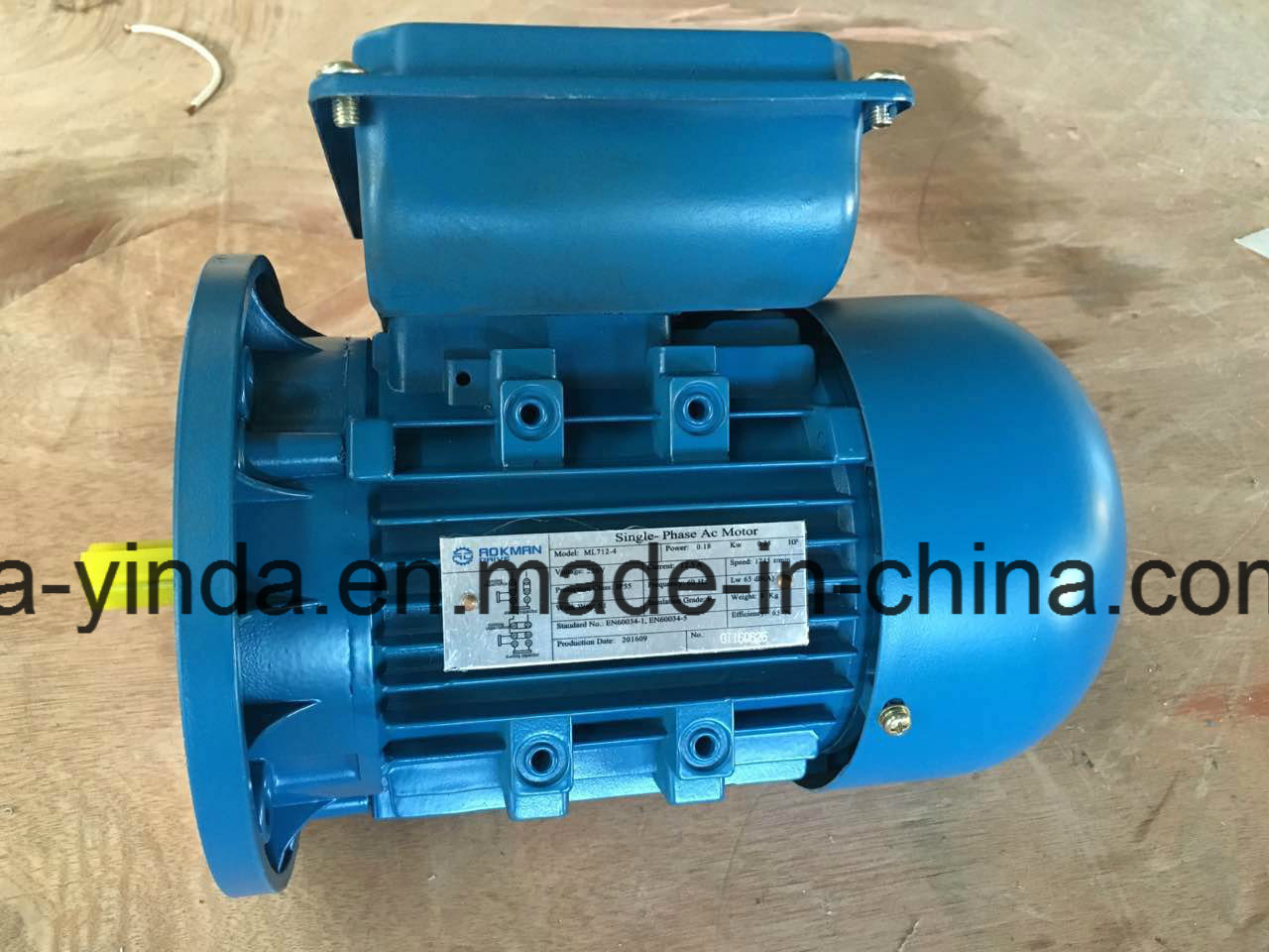 China 0.18kw, 0.25HP Single Phase Electric Motor 230V/60Hz, 1745rpm ...
