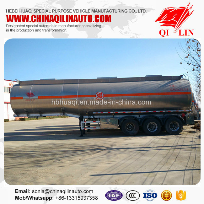 Total Weight 40 Tons Tanker Semi Trailer for Flammable Liquids Loading pictures & photos