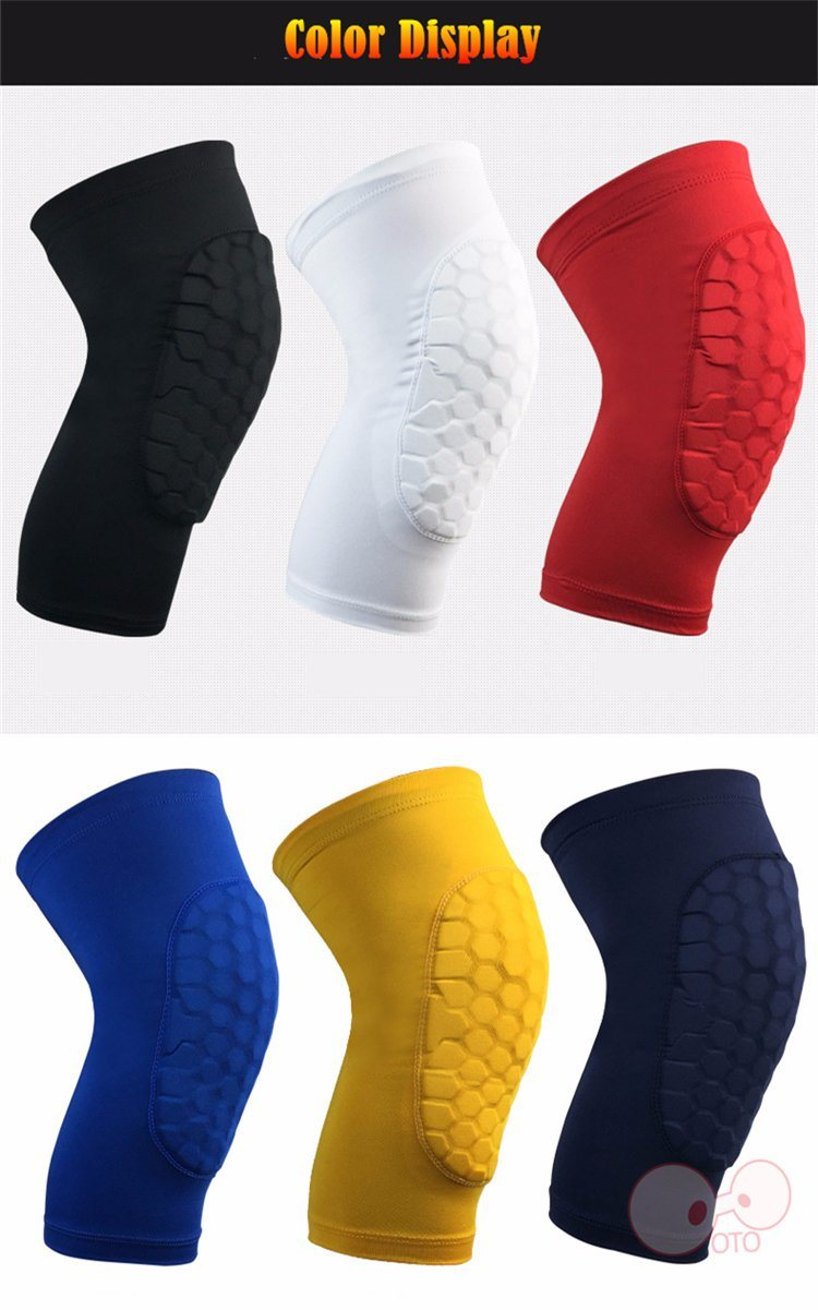 China 2 Pcs Honeycomb Protective Compression Knee Pads Basketball Leg Sleeve Kneepad Sleeves Support Kneecap Sports Safety Cycling Warmmers