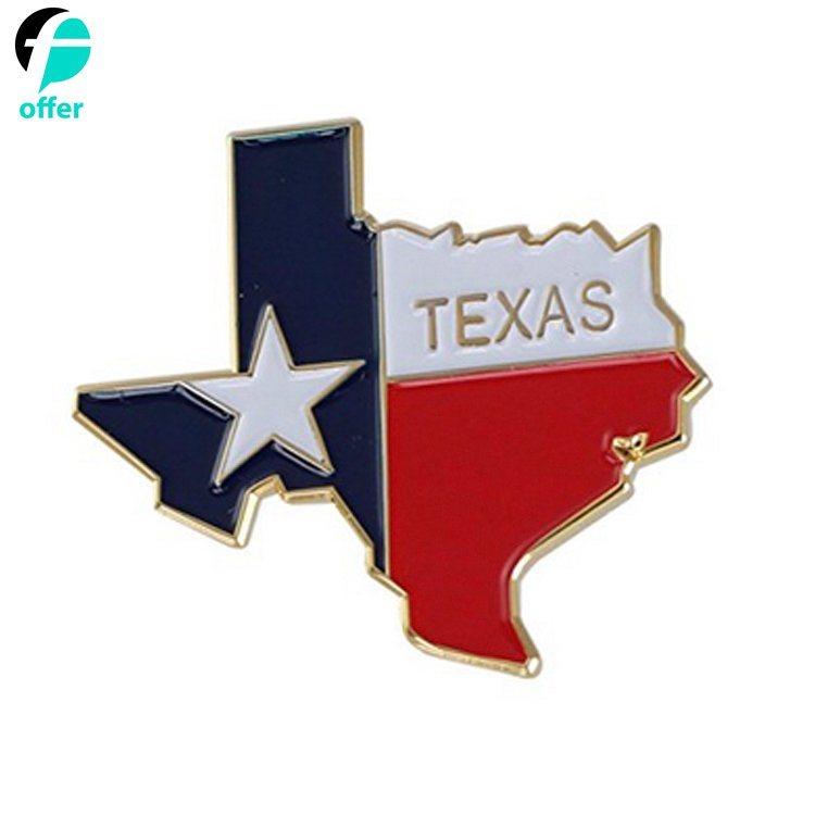 China State Shape Of Texas And Texas Flag Lapel Pin   China Lapel Pin,  State Lapel Pin