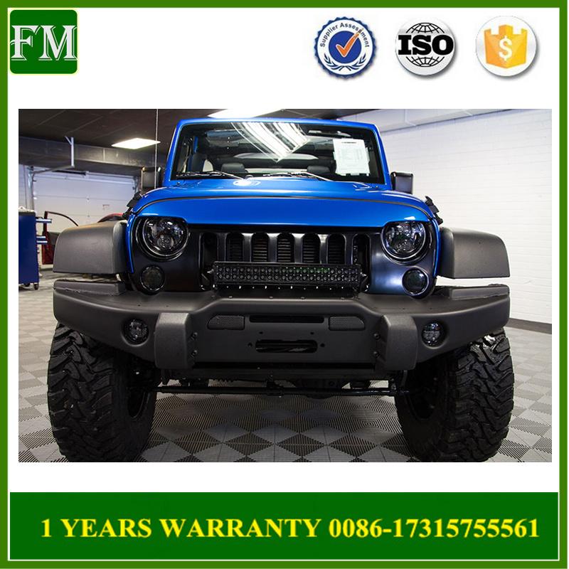 Jeep Wrangler Jk Front Bumper >> Hot Item Aev Front Bumper Guard With Bull Bar For Jeep Wrangler Jk 2007