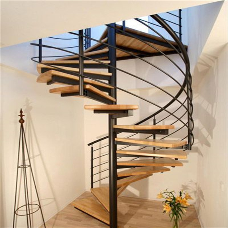 China DIY Modern Spiral Glass Staircase With Stainless Steel Stairs  Balustrade   China Spiral Staircase, Wood Tread Staircase