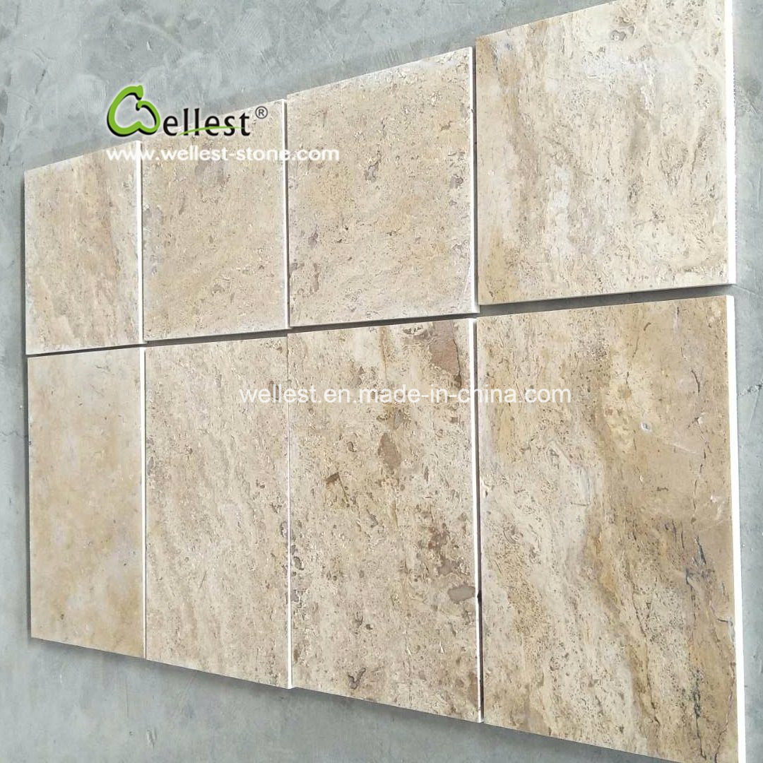 China Beige Travertine Paving Tile, Bathroom Flooring, Pool Covering ...