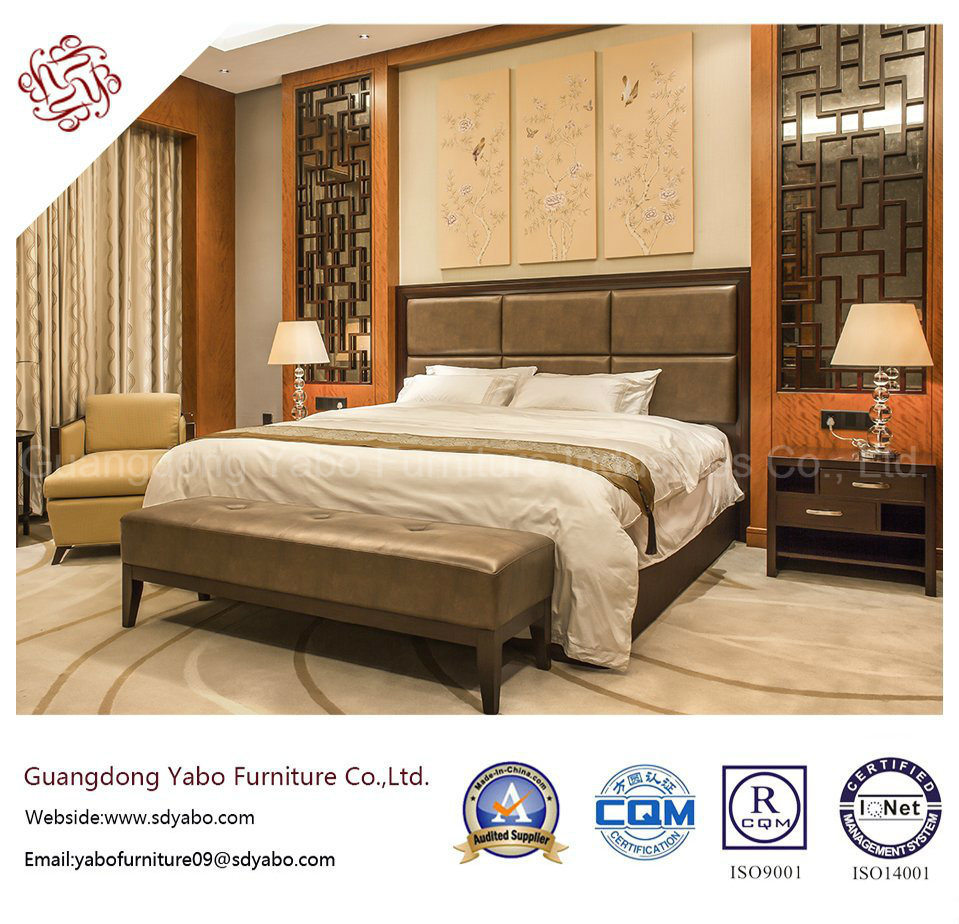 [Hot Item] Chinese Style Hotel Furniture with Wood Bedroom Furniture Set  (F-3-1)