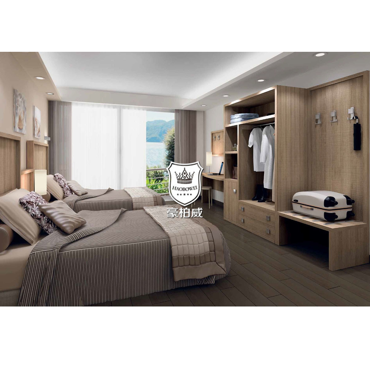 China Supply Canada Toronto Hotel Furniture For Sale In Wood Color