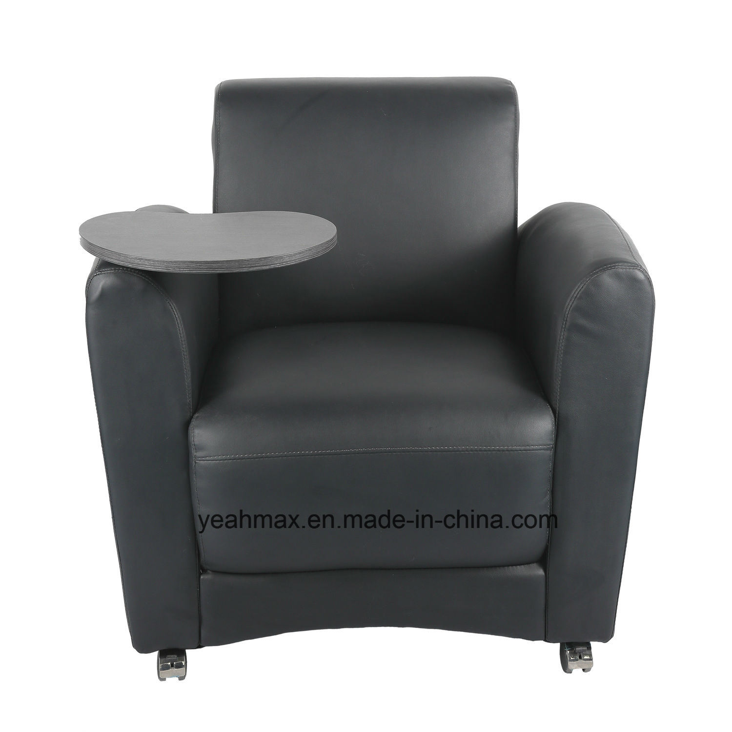 China modern office receiption chair with tablet armrests china furniture office furniture