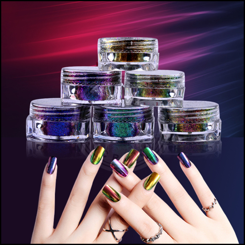 China Chameleon Galaxy Glitter Nail Art Design Pigment Powder Photos ...