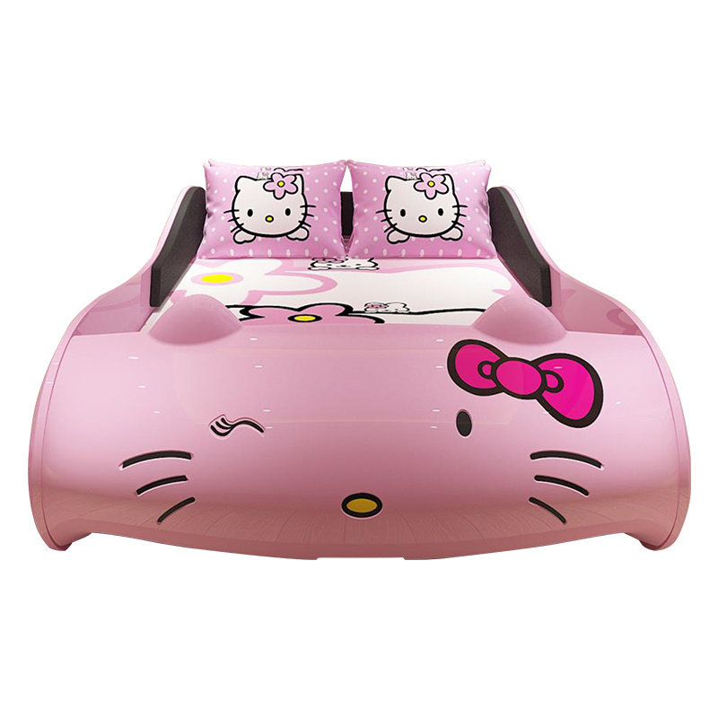 Onwijs China Hellokitty Bed Pink Leather Girl′s Bed for Kids - China KJ-53