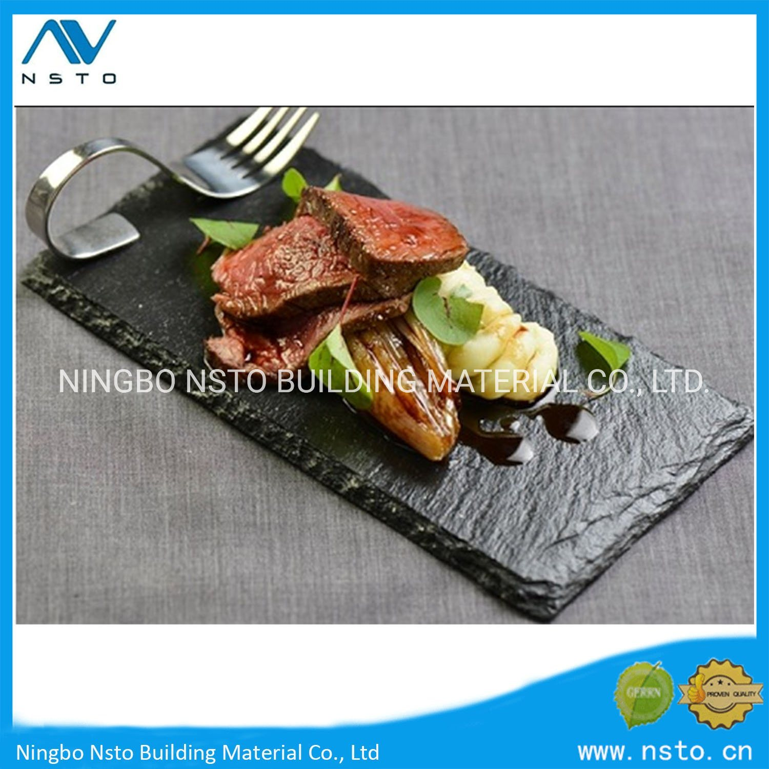 China Natural Stone Kitchen Black Slate Dish Dinner Food Plates Cheese Cutting Board Photos Pictures Made In China Com