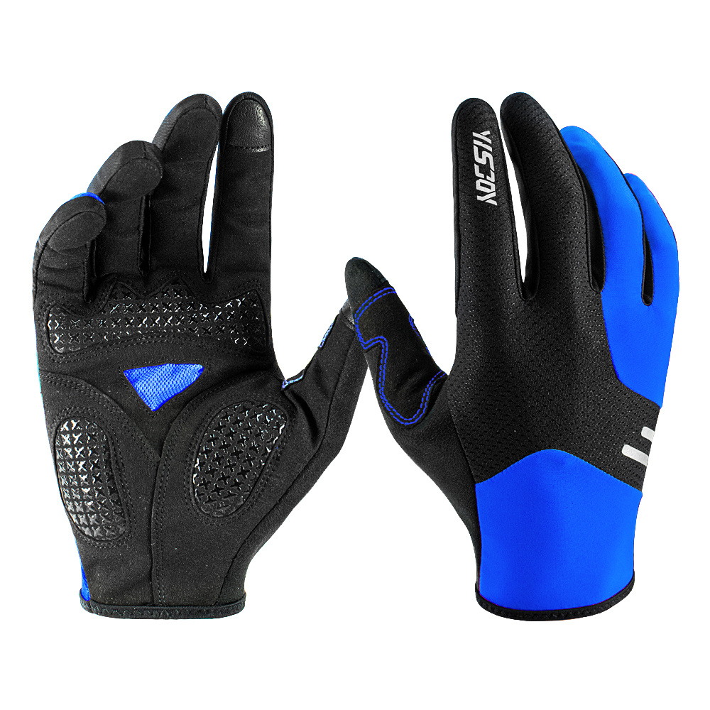 Youth//Kids Full Finger Mountain Bike Gloves Touch Screen Anti-Skid 3 Colors US