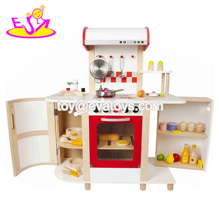 China New Hottest Play House Wooden Big Kitchen Set Toy For Children