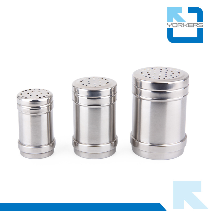 China Stainless Salt Spice Cans Pepper Shaker With Rotating Cover