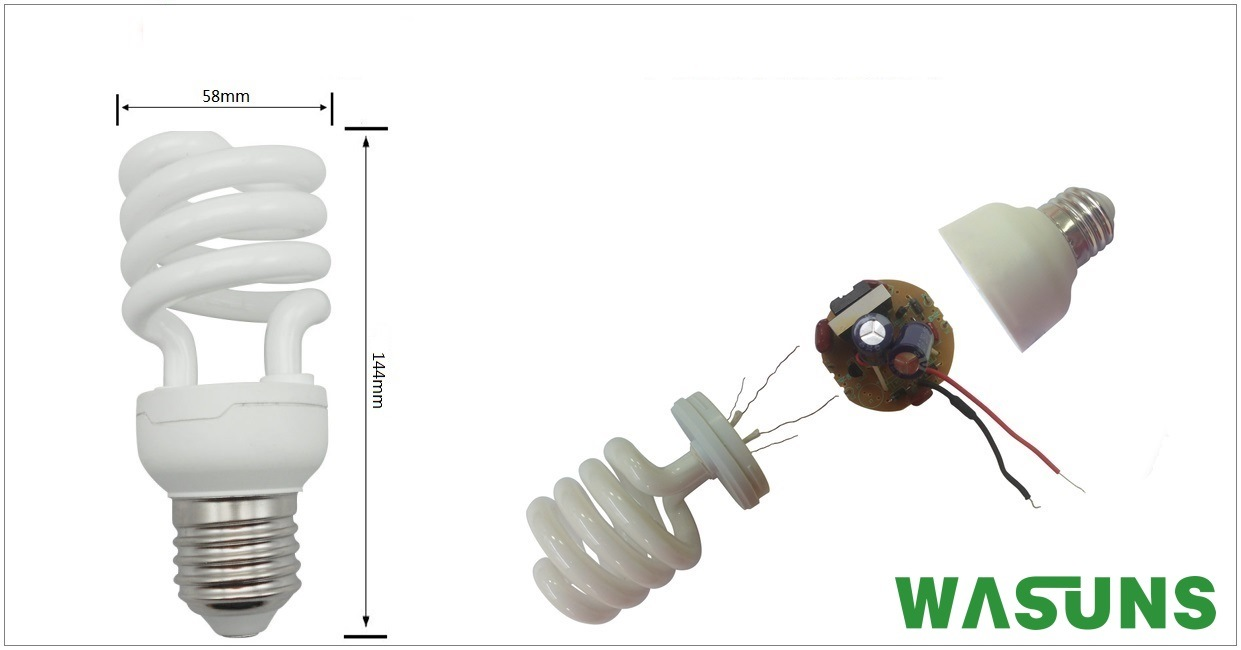 T4 Half Spiral 26W CFL Bulb Energy Saving Lamp pictures & photos