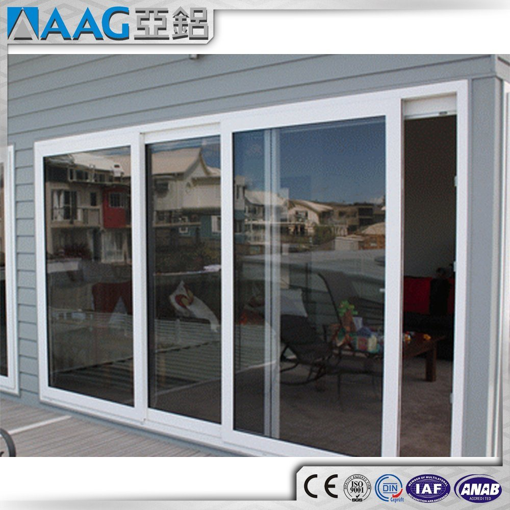 China Whiteblackgraybrown Aluminum Frame Sliding Glass Door
