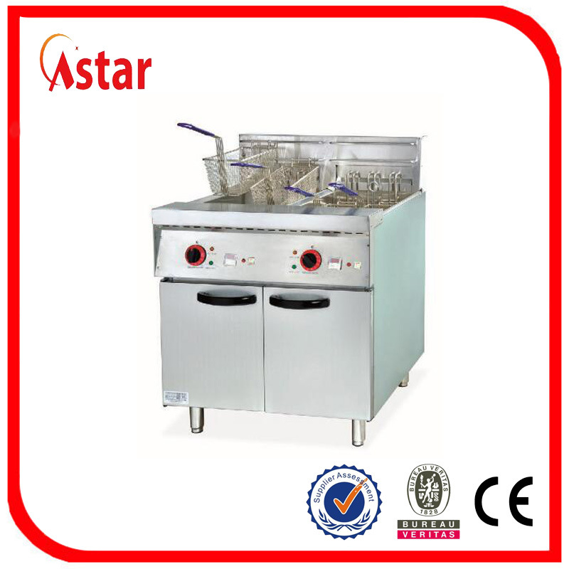 China Double Tank Deep Fryer for Restaurant, Electric Commercial ...