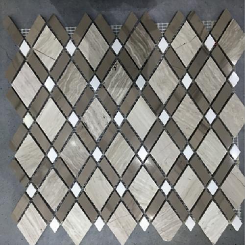China Stone Mosaic Floor Tile With Rhombus Pattern China Buliding