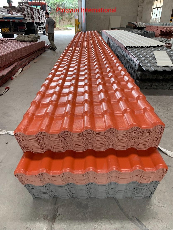 [Hot Item] Lamina Teja Colonial Thermoplastic Roof Sheet Plastic Roofing  Teja Tile