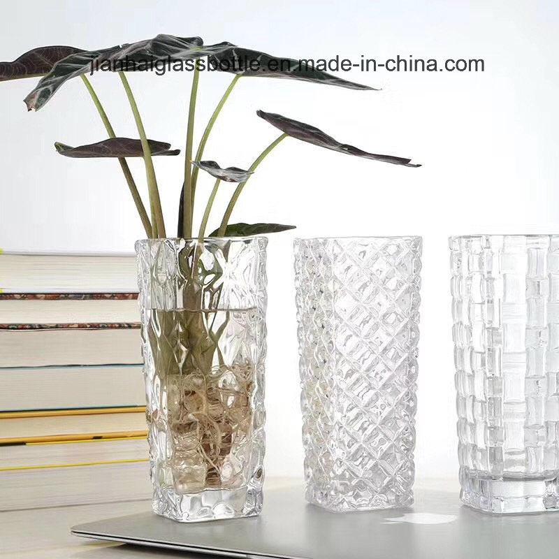 Qingdao Jianhai International Trade Co. Ltd. & [Hot Item] Home Decoration High Quality Clear Glass Vase Flower Vases