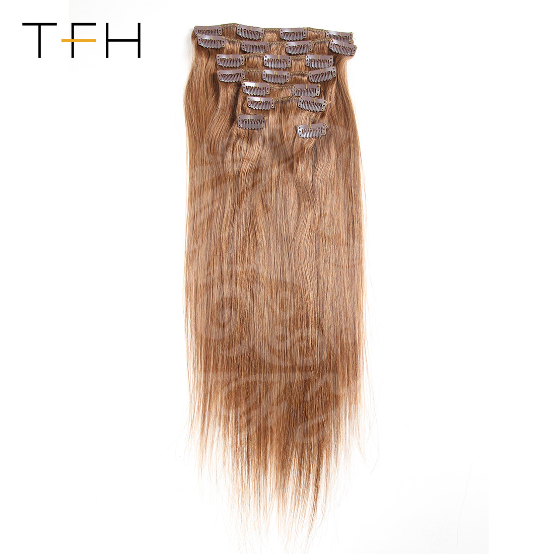 China Indian Straight Virgin Hair Clip In Hair Extensions For Women