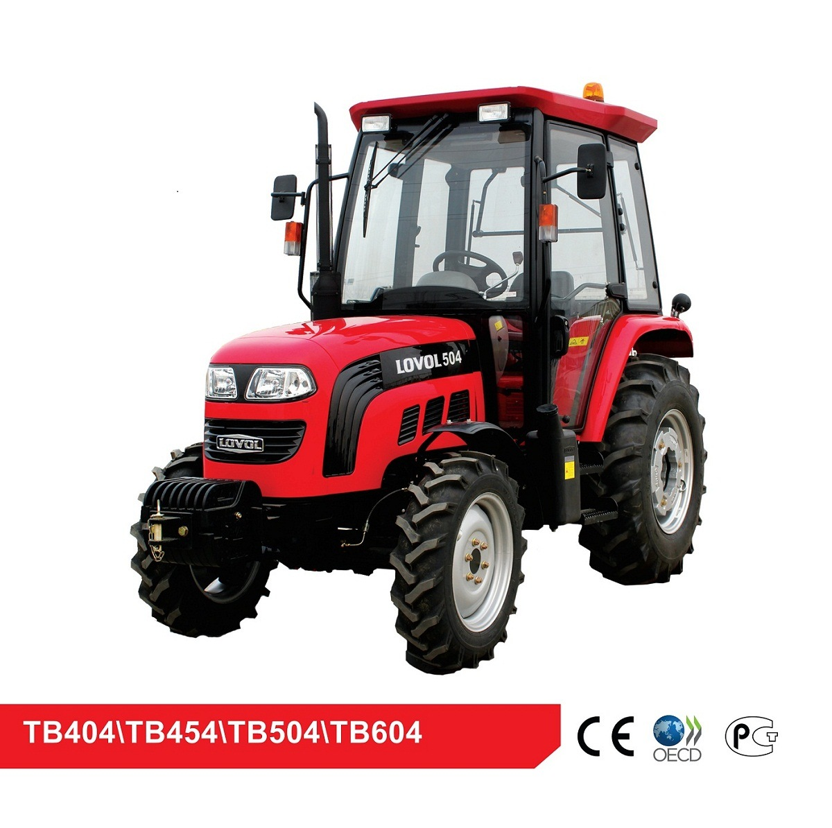 China Foton Lovol 30-60 HP 4WD Farm Walking Garden Lovol Tractor with CE and EPA4F