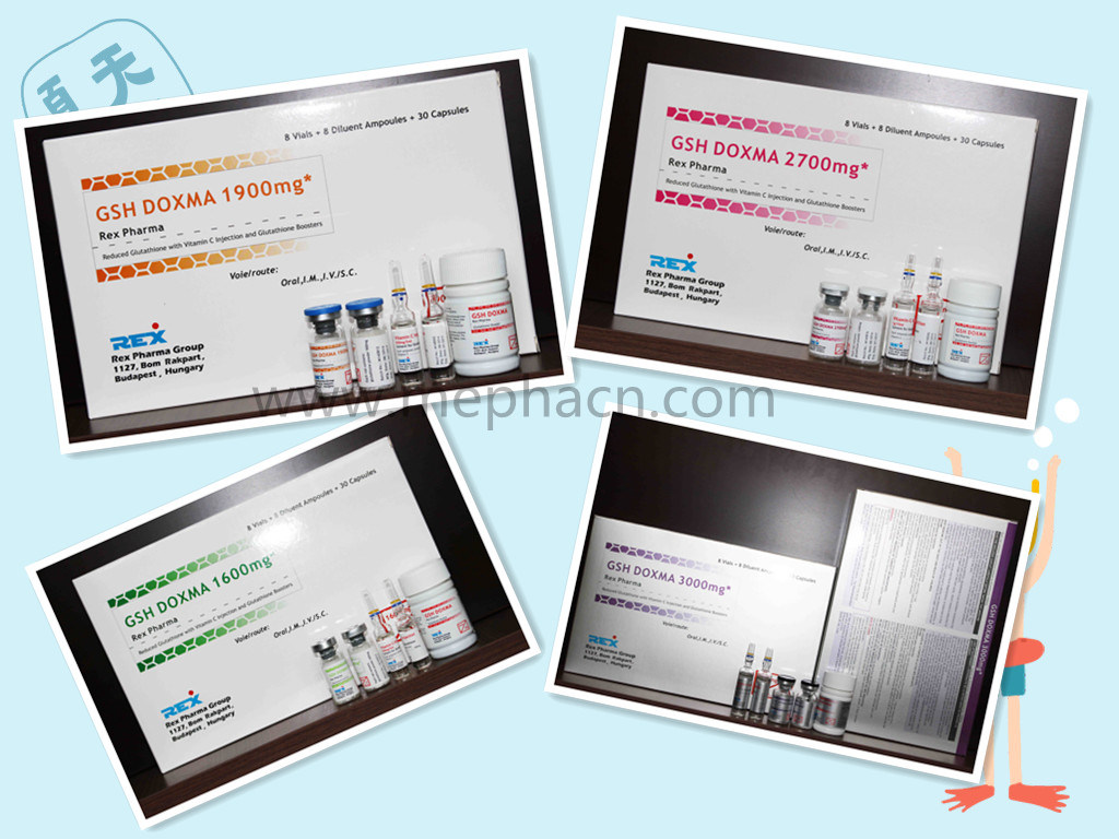 High Quality of Glutathione Injection for Body Lightening and Skin Whitening Glutathione
