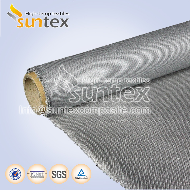 Stainless Steel Wire Reinforced Fiberglass Fabric with PU Coating 0.7mm for Fire Blanket Smoke Curtains