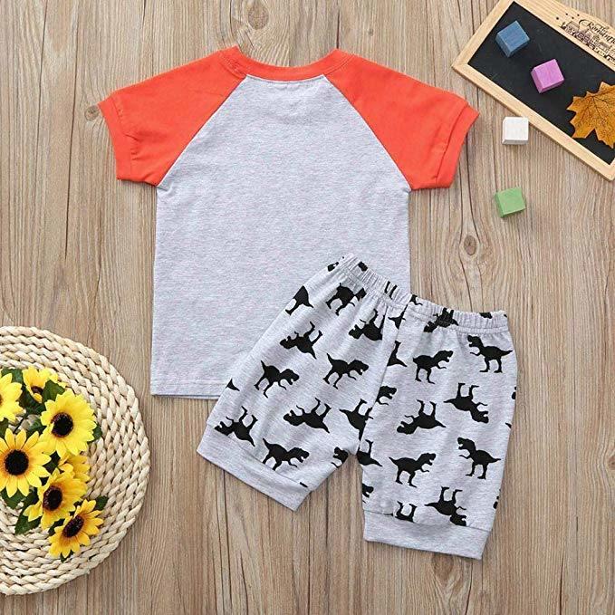 5c127ae13 China Toddler Kids Baby Clothes Boys Dinosaur Pajamas Cartoon Print ...