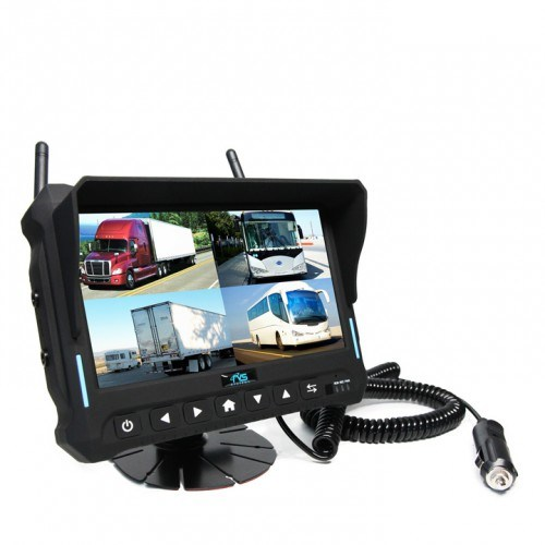 7-Inch 4CH Digital Recording Monitor Wireless Rear View Camera for Trucks, Farm Tractor, Cultivator, Trailer, Buses pictures & photos