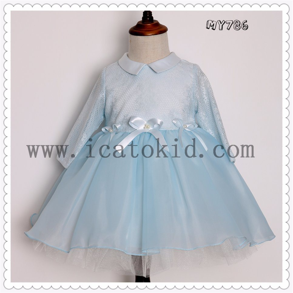China Wholesale Blue Baby Girls Party Dresses Kids Clothes Costume ...