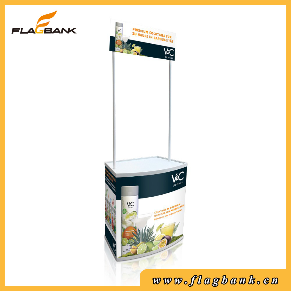 Portable Plastic Promotion Counter with Top Board