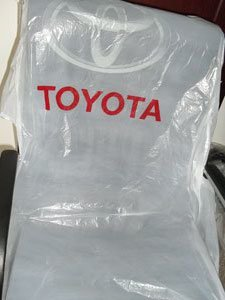 Disposable Plastic Car Seat Cover Packing In Roll