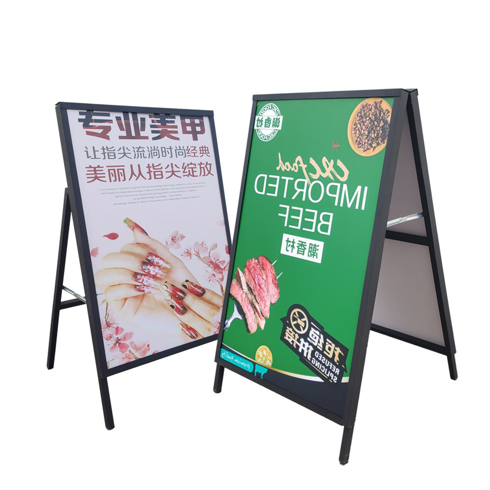 hot item outdoor metal double sided a poster board stands display stand movie poster display stand