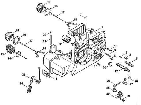 china stihl chain saw engine housing set (ms380, ms381) - china chainsaw,  chainsaw part