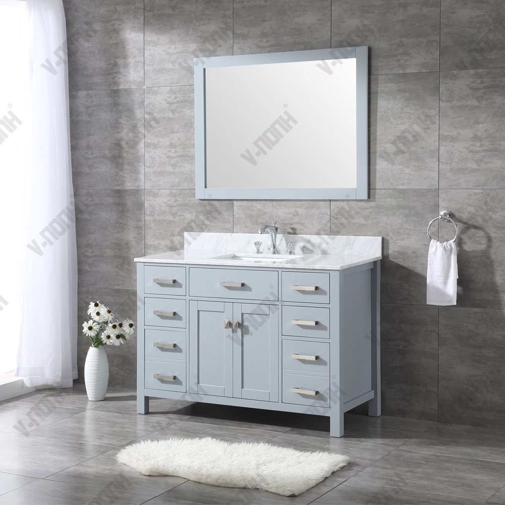 China Usa Style 48 Inch Marble Top Modern Bathroom Vanity China Bathroom Cabinet Bathroom Vanity