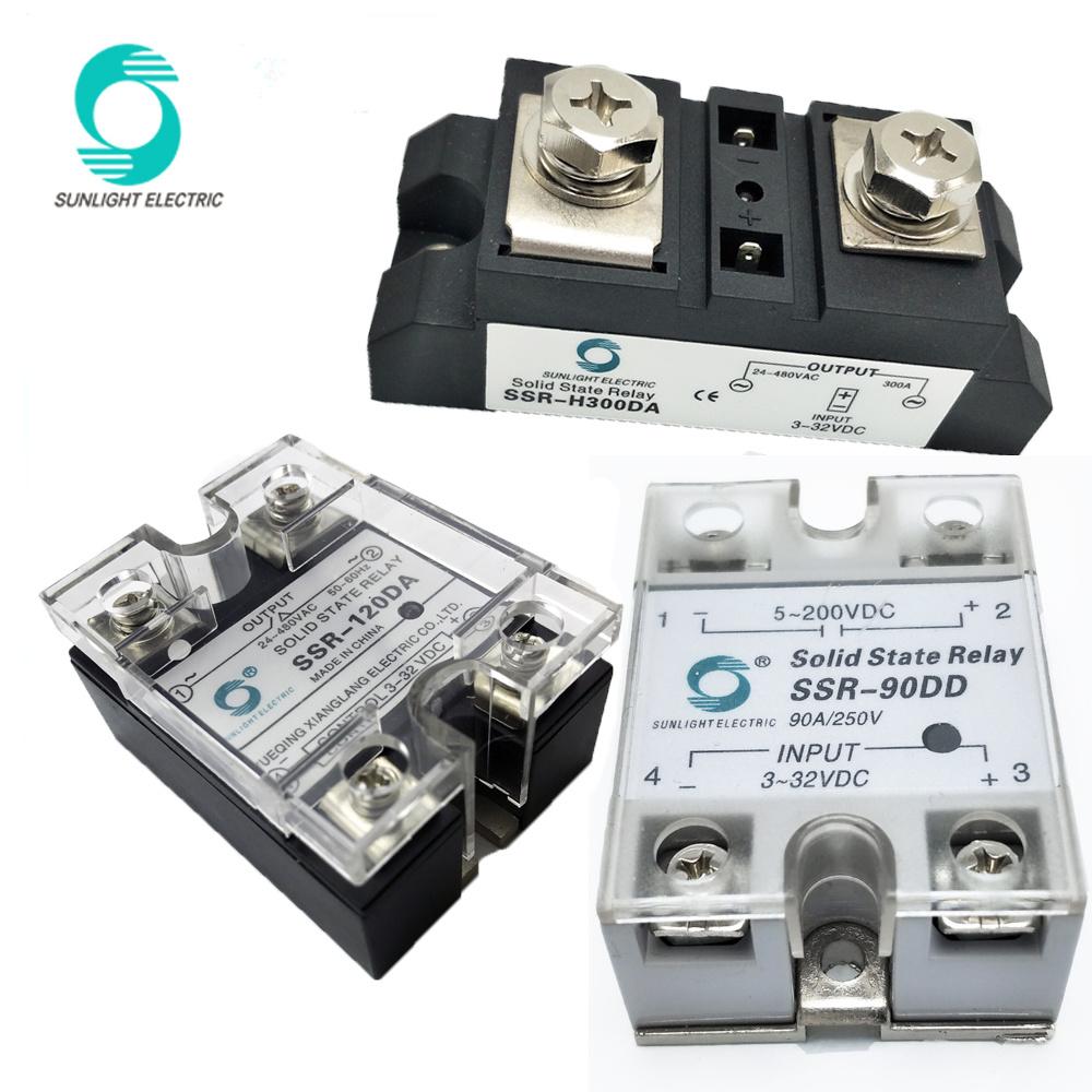 China SSR40AA 40AMP Control 80250V AC Output 24380V AC SSR Solid