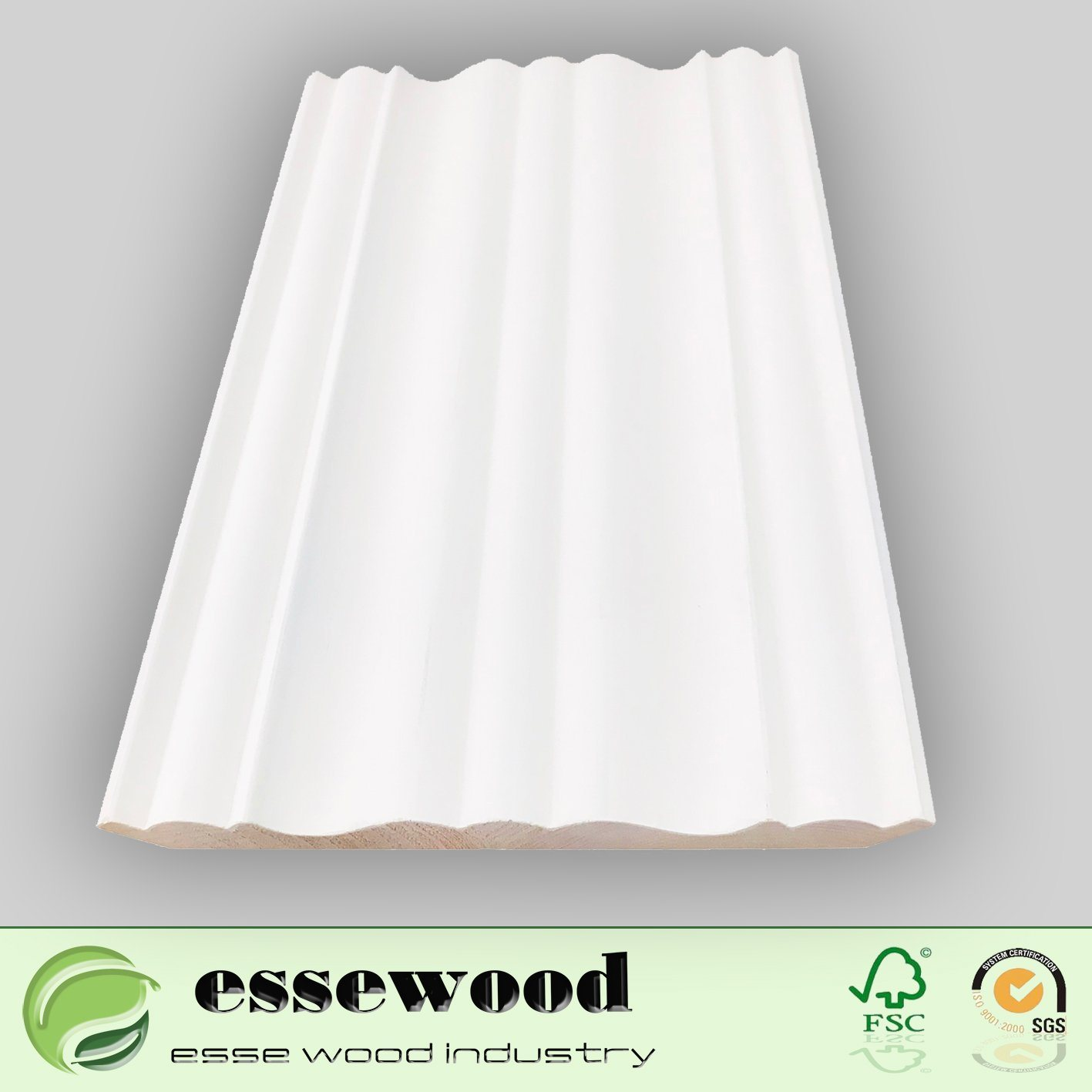 Hardwood Solid Wood White Pre  Painted Chair Rail Moulding And Crown  Moulding Profiles