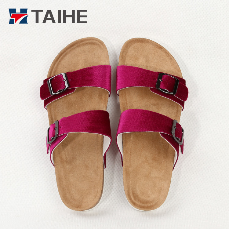 0e37ccf2643230 China 2018 Latest Design Footwear Shoes Women Comfortable Flat Nubuck  Sandals and Slipper for Women - China Slippers