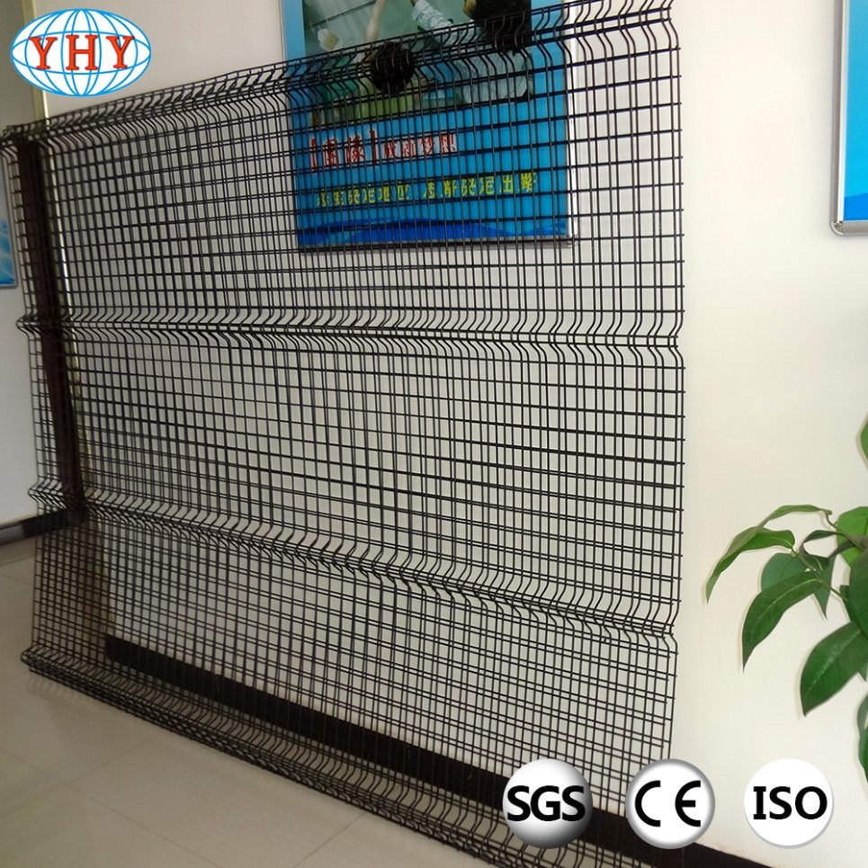 China 2X4 Black PVC Coated Wire Mesh Fence Panels with Curve Photos ...