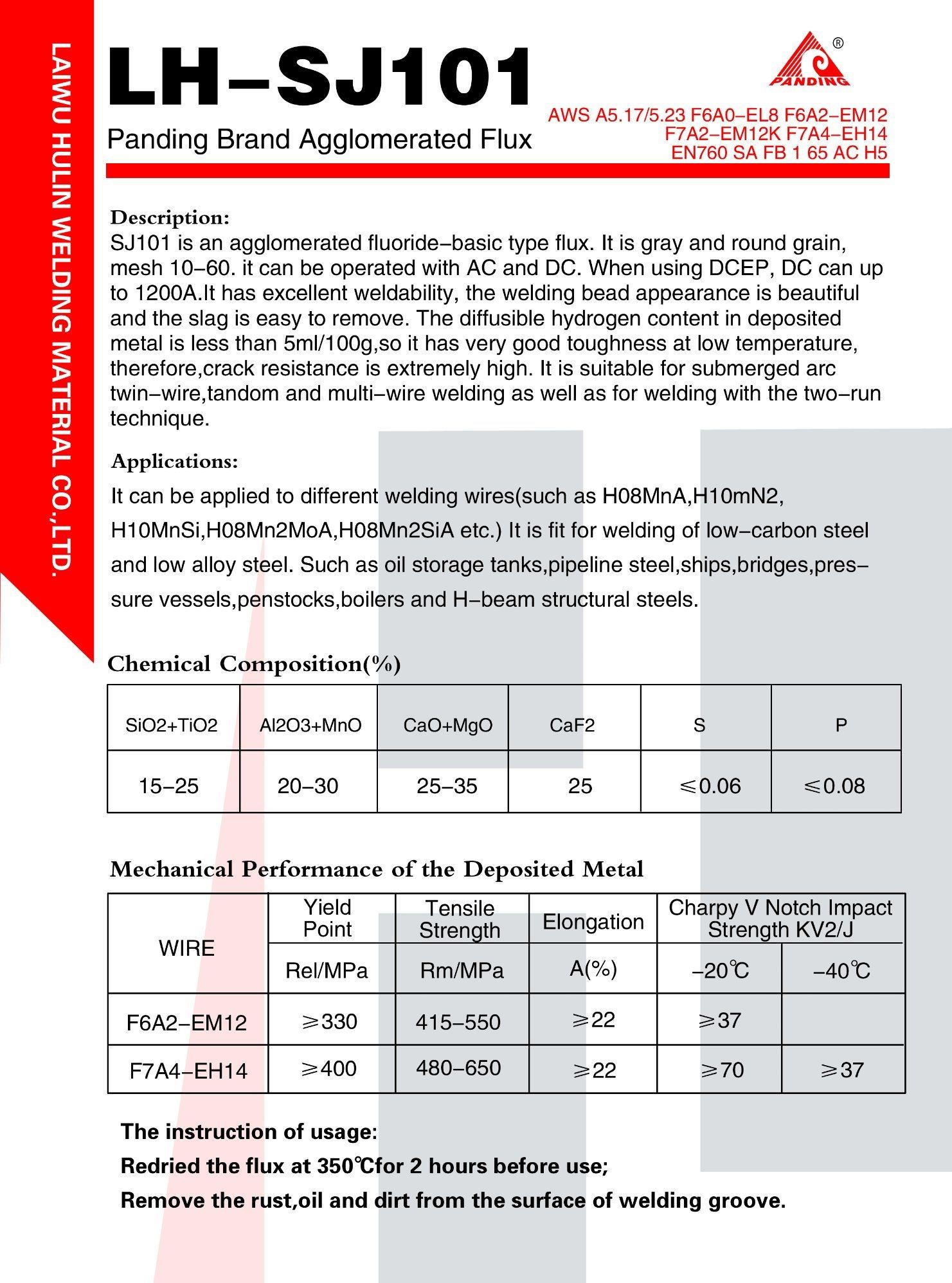 China Fluoride-Basic Type Submerged Arc Welding Flux, En760 SA Fb 1 ...