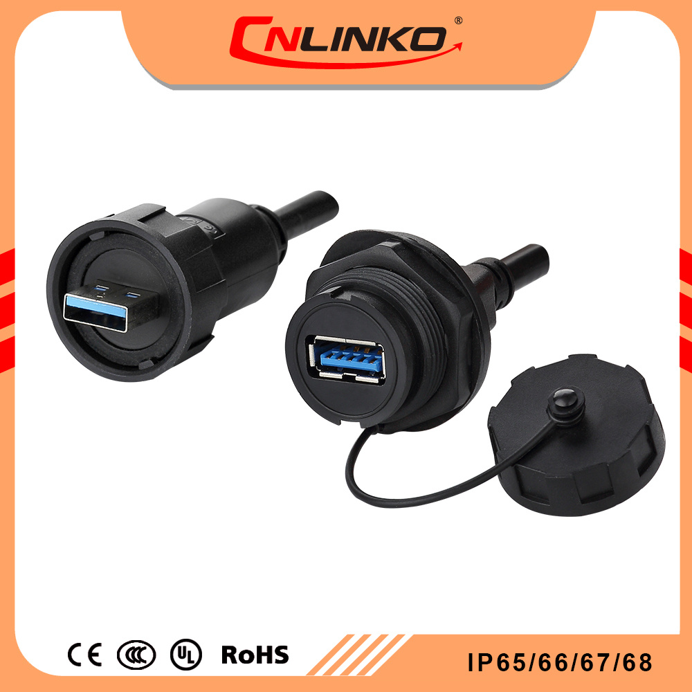 China Cnlinko Usb30 Double Rubber Coating Wiring Connector Buy Data Rj45 Socket Water Resistant Ip67 Solid Quality Circular