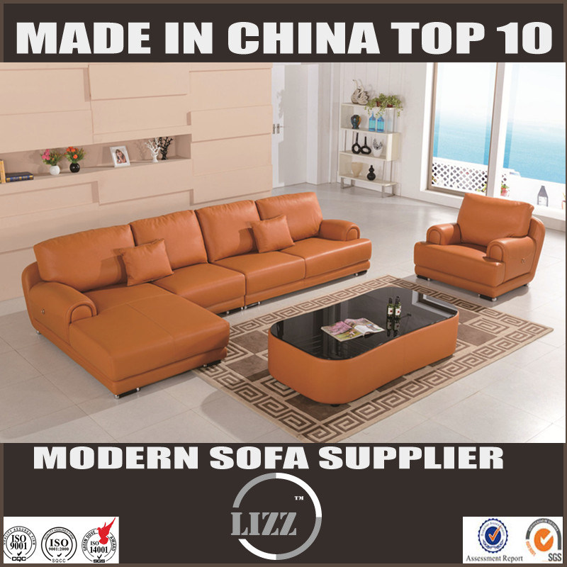 China Miami Modern L Shape Leather Sofa with Single Chair - China ...