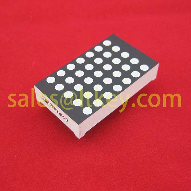 1.2 Inch 5X7 LED DOT Matrix with Gaps