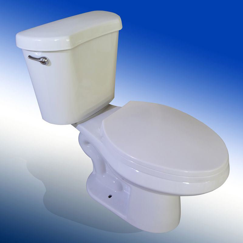 China Elongated Close Coupled Toilet for USA - China Two Piece ...