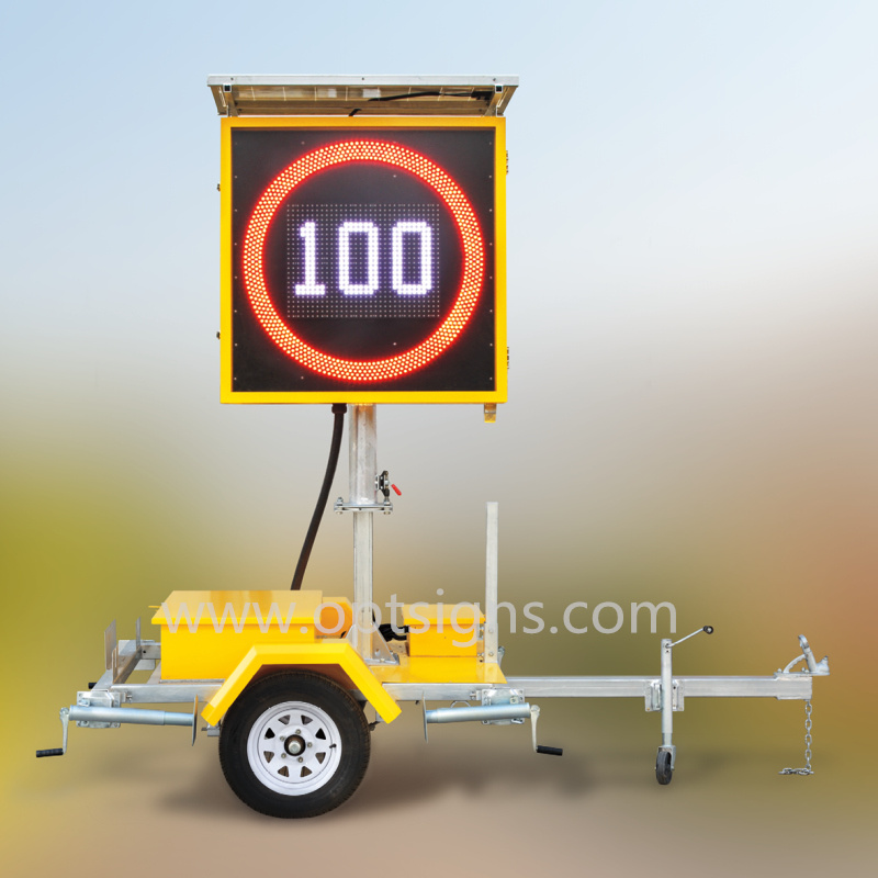 Outdoor IP65 Solar Powered LED Variable Speed Limited Sign