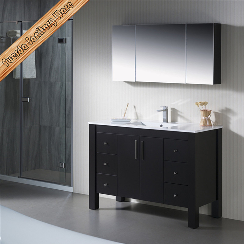Sanitaryware New Solid Wood Vanity Oak Bathroom Vanity Cabinet pictures & photos